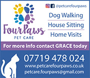 Pet Care Four Paws: Pet services in Stoke Gifford.