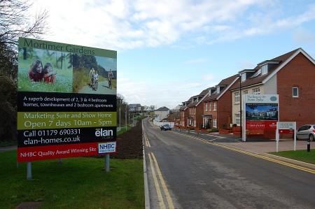 New homes at The Bowery, Cheswick Village, Stoke Gifford, Bristol.