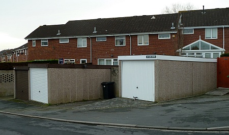 Garages in Elm Close, Little Stoke