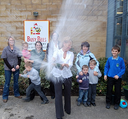 Busy Bees Stoke Gifford: Jean Rowley opens the bubbly!