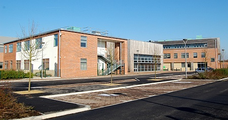 Buildings at Abbeywood Community School, Stoke Gifford, Bristol.