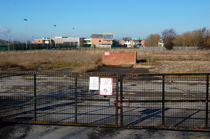 Vacant site in front of Abbeywood Community School, Stoke Gifford