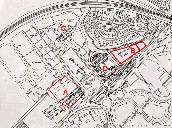 Plan of City of Bristol College and UTC, Stoke Gifford