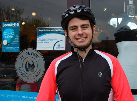 Mike Trevelyan - charity cyclist from Bristol.