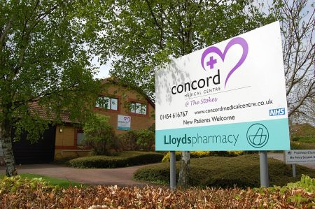 Concord Medical Centre, Braydon Avenue, Little Stoke, Bristol.