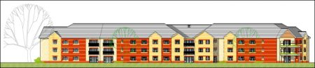 Proposed care home at Cheswick Village, Bristol.