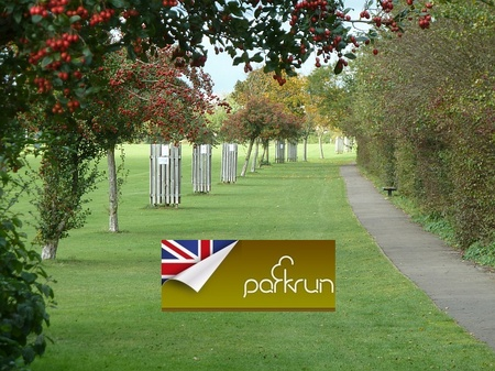 Parkrun in Little Stoke Park, Bristol.