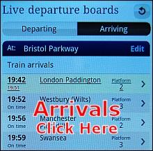 Bristol Parkway live arrivals.