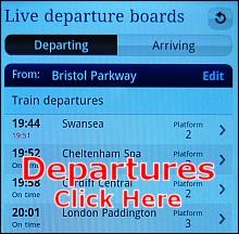 Bristol Parkway live departures.