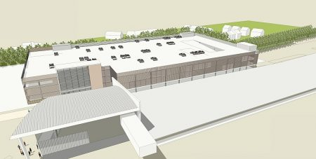Artist's impression of a proposed new multi-storey car park at Bristol Parkway.