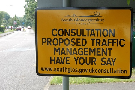 Public consultation on traffic calming measures in Little Stoke Lane.