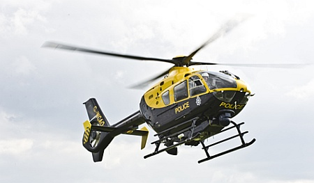 Helicopter of the the Western Counties Air Operations Unit.