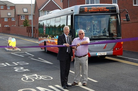 Official opening of the Cheswick Bus Link.