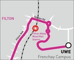 Route of the Wessex Red number 19 service in North Bristol.