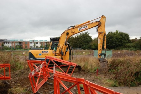 Work gets underway on the new Engineering Department building in Stoke Gifford.