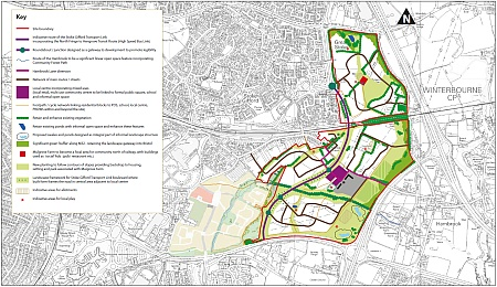 East of Harry Stoke New Neighbourhood Framework Diagram (November 2012).