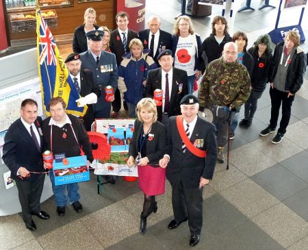 Launch of the Royal British Legion Stoke Gifford Branch Poppy Appeal 2012.