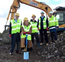 Turf-cutting ceremony at the New Road site in Stoke Gifford.