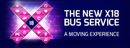 X18 bus service between Kingswood and Aztec West.
