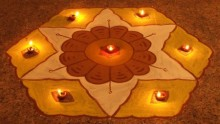 Diwali Rangoli - photo by abhinaba [licence: cc-attr]
