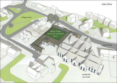 Proposed church and community centre on the Old Barns site, Stoke Gifford.