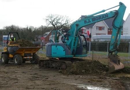 Building work underway at site of Wallscourt Primary Academy, Cheswick Village.