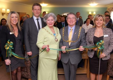 Official opening of the information suite at the new Beaufort Grange care home.