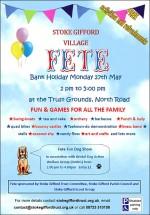 Poster advertising Stoke Gifford Village Fete.