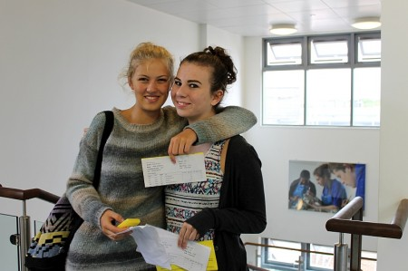 Students at Abbeywood Community School celebrate their A-level results