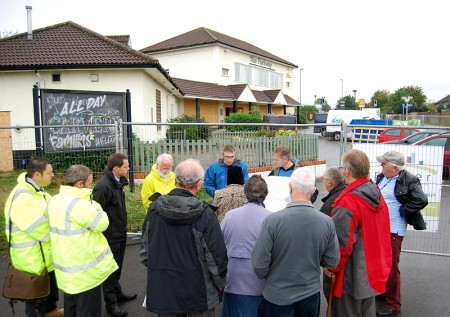 Councillors inspect site of a proposed Co-operative store in Stoke Gifford.