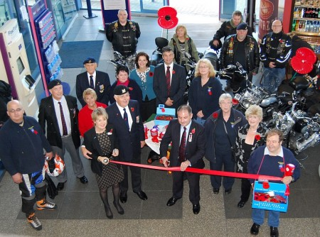 Launch of the Royal British Legion Stoke Gifford Branch Poppy Appeal 2013.