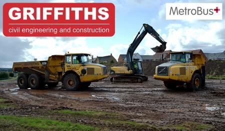 Alun Griffiths, MetroBus contractors in The Stokes, north Bristol.