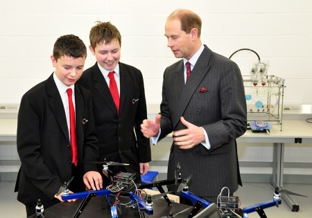 Official opening of the Bristol Technology and Engineering Academy in Stoke Gifford.
