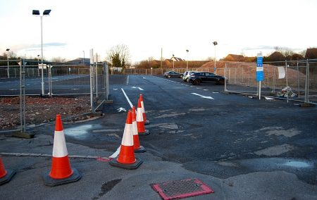 Temporary car park at Hunts Ground Road, Stoke Gifford.