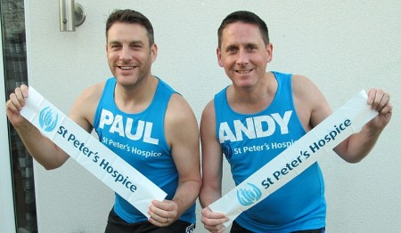 Marathon runners Paul Adams (left) and Andrew Turner.