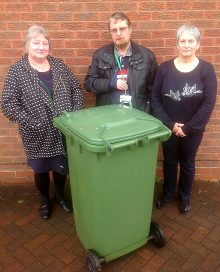 Green bin not emptied in Little Stoke.