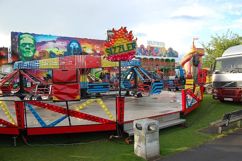 Funfair in Little Stoke Park.