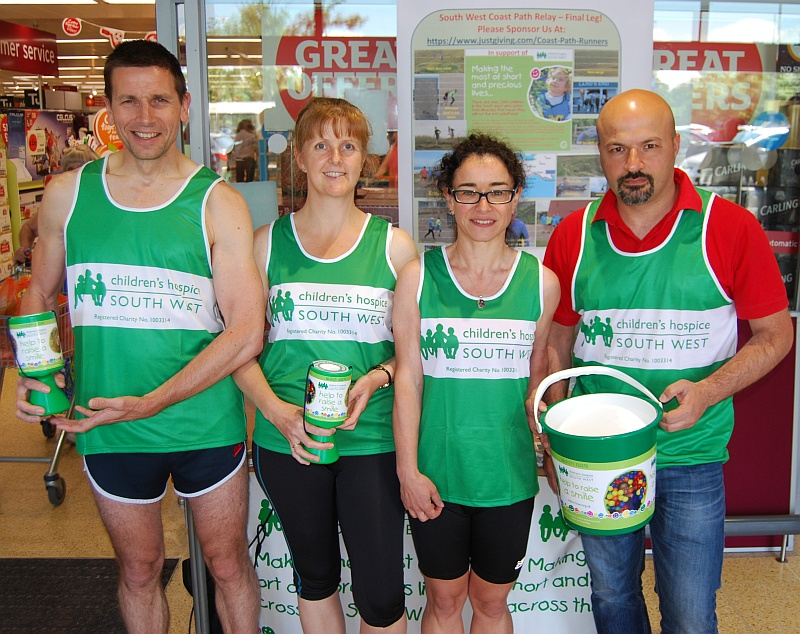 Staff from HP Bristol collecting for Children's Hospice South West.