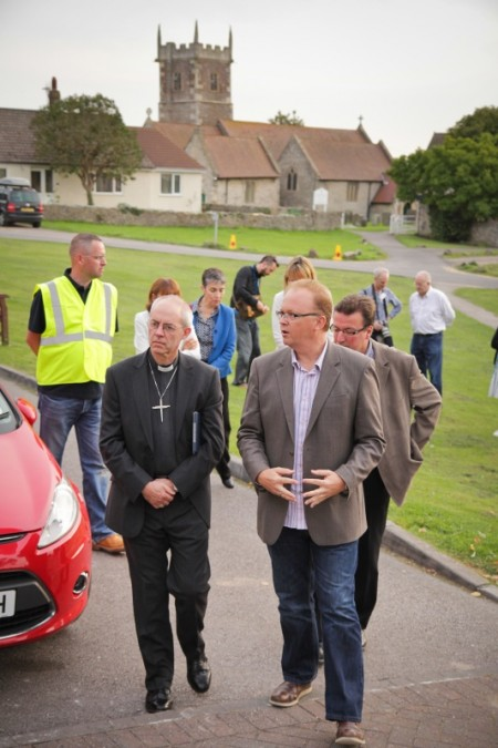 Simon Jones (right), team rector at St Michael's Church, with Justin Welby, Archbishop of Canterbury. [Credit: Rob Wicks]