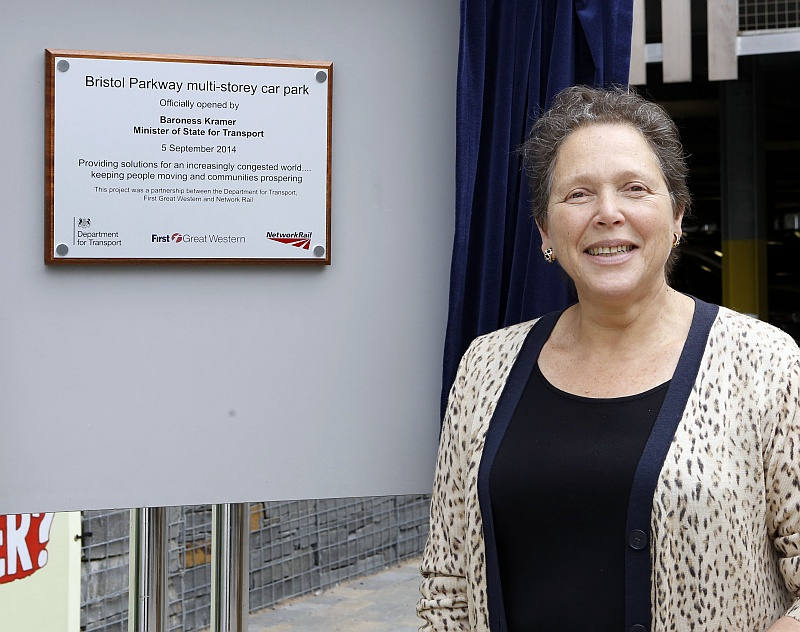 Baroness Kramer officially opens the new multi-storey car park at Bristol Parkway Station.