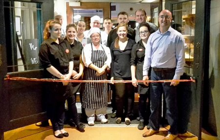 Staff team at the Beaufort Arms in Stoke Gifford, Bristol.