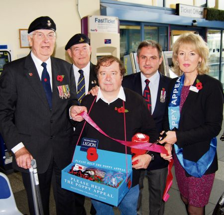 Launch of the 2014 Poppy Appeal at Parkway Station, Stoke Gifford, Bristol.