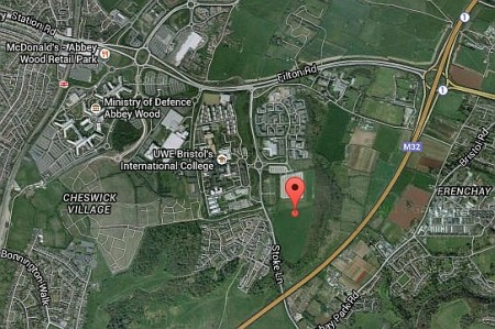 Land East of Coldharbour Lane in Stoke Gifford, Bristol - the site of a proposed 550 dwelling housing development.