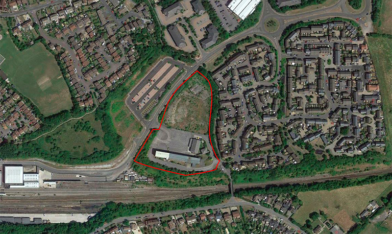 The Parklands site in Hunts Ground Road, Stoke Gifford, where a new office development is proposed.