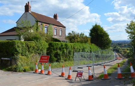 Closure of Hambrook Lane, near junction with Curtis Lane, for construction of the Stoke Gifford By-Pass.