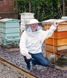 Tim Hewer, beekeeper in Little Stoke, Bristol.