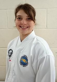 Phoebe Grandfield, a member of Stoke Gifford Taekwon-do.