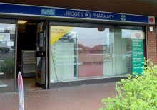 Post office within the former Jhoots Pharmacy shop unit in Ratcliffe Drive, Stoke Gifford, Bristol.