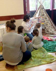 Little Stoke Toddler Group in session at Little Stoke Community Hall.