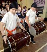 Bhangra performance at Little Stoke Primary School, Bristol.